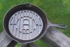 Rare Vintage Griswold Cast Iron Skillet Grill - Patent Applied For - p n 299