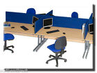 Desk Top Office Partition Divider Screen in 80,120,140,160,180cm Widths