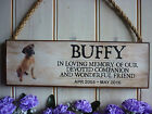 PERSONALISED BOXER DOG MEMORIAL PLAQUE GARDEN SIGN REMEMBRANCE BOXER IN MEMORY