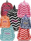 Personalized Chevron Large School Book Bag Backpack FREE Monogram Embroidery