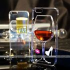 Dynamic Flow Liquid Red Wine Glass Cover Case For iPhone 5 5S SE 6/6 Plus