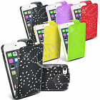 BLING DIAMOND LEATHER CASE FLIP CASE COVER POUCH FOR IPOD TOUHC 5 5TH GEN