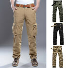 Casual Linen Men Cargo Pants Summer 2016 Army Military Multi-Pocket Trousers