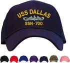 USS Dallas SSN-700 Embroidered Baseball Cap - Available in 7 Colors - Hat