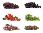 Внешний вид - Artificial Grape Cluster 7-inch Plastic Decorative Grapes Fake Green Red