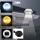 New Outdoor Solar Power 3 Led Light Garden Fence Yard Wall Gutter Pathway Lamp