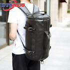 Men Leather Shoulder Bag Travel Laptop Camping Backpack Hiking Vintage Rucksack