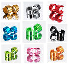 Wide FUN Funky Rainbow Multi-Colour Ceramic Stainless Steel Huggie Earrings Hoop