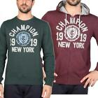 CHAMPION ATHLETICS Felpa da Uomo in Cotone Girocollo o Cappuccio New York Man DD