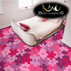 CHILDREN'S CARPET 'PUZZLE' violet Kids Play Area Bedroom, Fun Rug, ANY SIZE