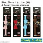 New Cat Collar kitten Fashion Cat Safety PVC With Bell Bow Tie Neck 30cm