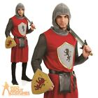 Adult Kings Knight Costume Mens Medieval Crusader Fancy Dress Outfit New