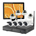 Home Wireless Security CCTV System Kit with Monitor Select Camera and Hard Drive