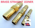 BRASS Straight Barbed Equal Fuel Hose Joiner Water Tube ConnectorAIR GAS OIL LPG