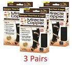 3 Pairs Miracle Copper Socks Anti Fatigue Compression black UNISEX with box