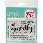 Avery Elle Clear Stamp Set WITH SYMPATHY AE1624 Thoughts Prayers Comfort Peace