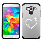 For Samsung Core / Grand Prime Shockproof Hard Case Love Heart Cross Christian