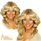 70s Flick Wig Blonde Farrah Fawcett Charlie's Angels Fancy Dress Costume