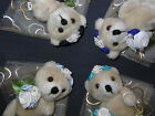 Bridesmaid wedding teddy bear gift favour in Sky, Navy, Royal and Turquoise BLUE