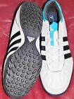 Soccer shoes mens football turf Adidas Adicore IV U41835 white blue Sz 10.5 New