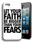 Faith Religious Inspirational Rubber Phone Case for iPhone, iPod,Galaxy, Note