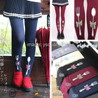 Kawaii 120D Opaque Fork Spoon bow Print Cosplay Women sexy Lolita Cute Pantyhose