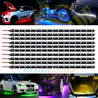 "12"" 4 Pcs 15led Flexible Strip Underbody Light Waterproof For Car Truck Boat 12v"