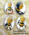 4pcs Huge The paradise of cartoon animal Oval Glass 40x30mm Cabochon  9 Options