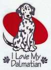 Personalised & Custom Embroidered I Love My Dalmatian Towel Set