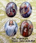 4pcs Huge Jesus and The father Oval Glass 40x30mm Cabochon 4 Options