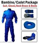 Blue Kart CIK Level 2 SUIT BOOTS GLOVES Package BAMBINO / CADET / JUNIOR