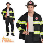Adult Fireman Rescue Me Costume Firefighter Uniform Mens Fancy Dress Outfit New