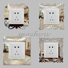 Removable Light Switch Button Surround Mirror Decal Wall Art Decor Stickers DIY