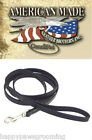 Premium Quality Heavy Duty Latigo Black LEATHER Brothers Dog LEASH Lead*USA MADE