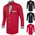Men's Slim Fit Long Sleeve Casual Dress Shirt Formal Formal T-Shirts Tee Tops