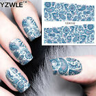 2 Sheets Gorgeous Abstract Flowers Pattern Nail Art Water Transfer Stickers Tips