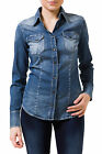 GAS MARAH NEW W286 Camicia donna a maniche lunghe in denim jeans slim fit