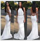 Sexy Long Backless Evening Prom Party Dresses Cocktail Bridesmaid Ball Dress