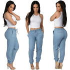 Women Fashion Casual Elastic Waist Trousers Loose Dance Jogger Long Pants