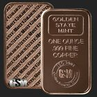 20 Ingots - Golden State Mint Bars • 1 oz each .999 Fine Copper Bullion