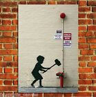 BANKSY GRAFFITI FIRE BELL POSTER QUALITY WALL ART PRINT PICTURE A4 A3 A2