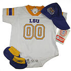 NCAA New Reebok Infant LSU Outfit 12-24 Months Onesie Hat and Booties Infant