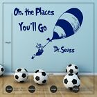 Dr Seuss Oh, the Places You'll Go Wall Art Sticker Decal Children's Bedroom