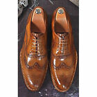 Customized Handmade Men's Tobacco Style Hand Stitched Leather Dress Shoes