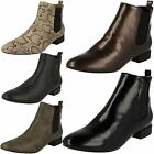 Spot On Ladies Pull On Ankle Boots - Style 558