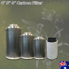 """Hydroponics 4""""/5""""/6"""" Active Carbon Air Filter For Grow Tent System Odor Control"""