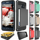Hybrid Outer Box Wallet Case Cover Card Slot Holder For Samsung Galaxy S5