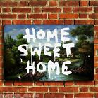 BANKSY HOME SWEET HOME GRAFITTI CANVAS WALL ART PRINT PICTURE S MEDIUM LARGE