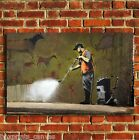 BANKSY GRAFITTI REMOVAL CANVAS WALL ART PRINT PICTURE SMALL MEDIUM LARGE