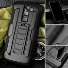 Protective Black Silicone Plastic Armor Case For LG Models
